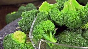 Rotating Broccoli (loopable) stock video