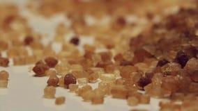 Rotating brown sugar stock video