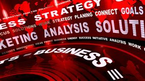Rotating Business Oriented Red Words stock video