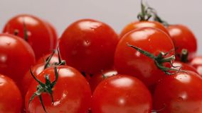 Rotating cherry tomatoes stock footage