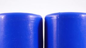 Plastic toy cylinder. Rotating Children`s Plastic Cylinder Toy stock video footage