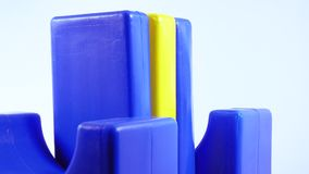 Plastic toy plates. Rotating children`s plastic toy plate stock video footage