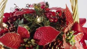 Rotating Christmas Basket stock video