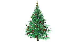 Rotating Christmas tree stock video