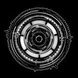 Rotating circular elements futuristic background Stock Photography