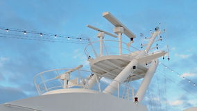 Rotating Civil Radar naval stock video footage