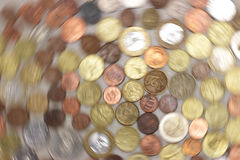 Rotating coins Royalty Free Stock Image