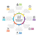 Rotating Color Infographic Stock Photo