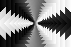Square optical illusion pattern. Rotating concentric squares, Square optical illusion pattern - black and white, Geometric abstract background royalty free illustration