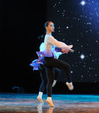 The rotating dance-classical dancing Stock Photography