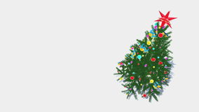 Rotating decorated christmas tree top-down view Loop 4K stock footage