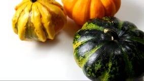 Rotating decorative pumpkin stock video footage
