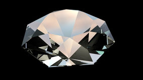 Rotating diamond 4k. Big Rotating Diamond, close up. 3d animation, seamless loop with alpha channel, 4K video stock video