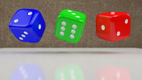 Rotating dices stock video