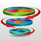 Rotating Disc Chart Icon Royalty Free Stock Images