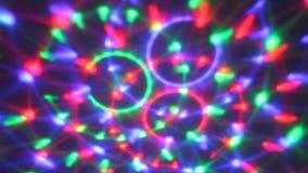 Rotating disco lights. Rotating colorful circles disco lights stock video