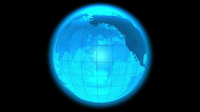 Rotating Earth globe loop Stock Images
