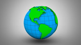 Rotating of Earth stock video