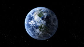 Rotating earth Stock Image