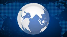Rotating earth, seamless loop. stock footage