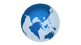 Rotating earth and white background, seamless loop stock video