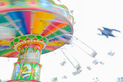 Rotating flying chairs Royalty Free Stock Image