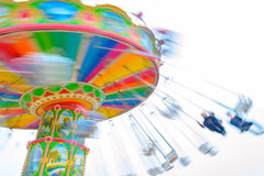Rotating flying chairs Stock Image