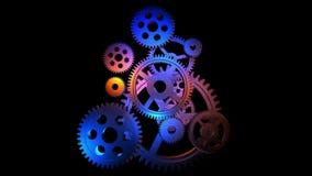 Rotating gears loop stock video