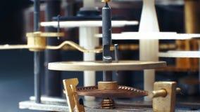 Rotating gears mechanical watches. Pendulum clock. 4K. Rotating gears mechanical watches. Pendulum clock stock video footage