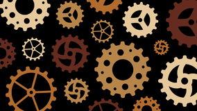 Rotating Gears stock video footage