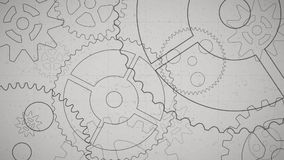 Rotating gears. Video here presented rotating gears stock footage