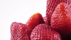 Berries of a strawberry stock video