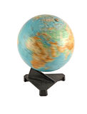 Rotating globe. Selected on a white background Royalty Free Stock Photography