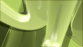 Rotating green abstract shape stock video footage