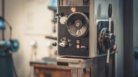 Rotating Handle Lathe Machine Tool. Manual Rotating Handle Lathe Machine Tool In A Manufacturer Factory royalty free stock photography