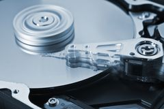 Rotating Hard Disk Drive with moving head Stock Images