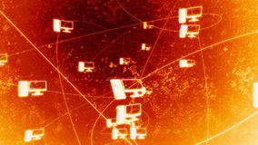 Rotating Icon Network Fire stock footage
