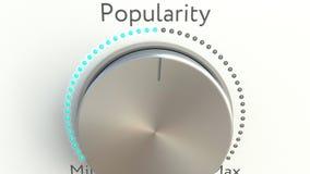 Rotating knob with popularity inscription