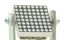 Rotating lamp LED array. Rotating lamp with green / red LED array close up stock video footage