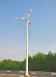 Rotating large wind turbine generator Royalty Free Stock Image