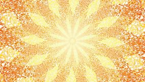 Mandala rotation in orange  and yellow colors. Circular rotating pattern. Psyhedelic Video. stock video