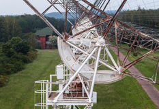 The rotating mechanism of the russian radiotelescope to study pulsars Stock Image
