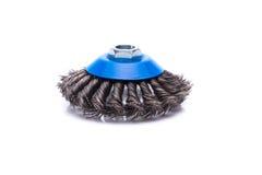 Rotating metal brush or grinding disk Stock Images