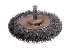 Rotating metal brush. Or grinding disk Royalty Free Stock Photography