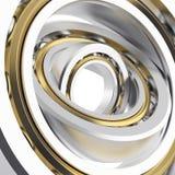 Rotating metallic bearing Stock Images