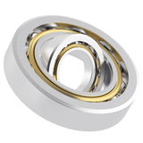 Rotating metallic bearing Royalty Free Stock Images