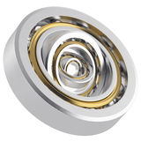 Rotating metallic bearing Stock Images