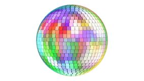 Rotating mirror disco ball, 3D rendering