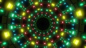 Rotating Nice Glowing Lights Vj Loop Visual Background 3d