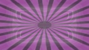 Rotating object with a geometric pattern in vintage style on an abstract purple background. Seamless loop video stock video footage